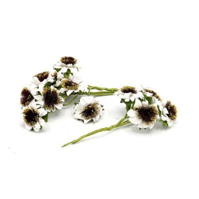Flor papel 20 unidades blanco