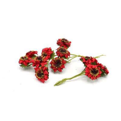 Flor papel 20 unidades rojo