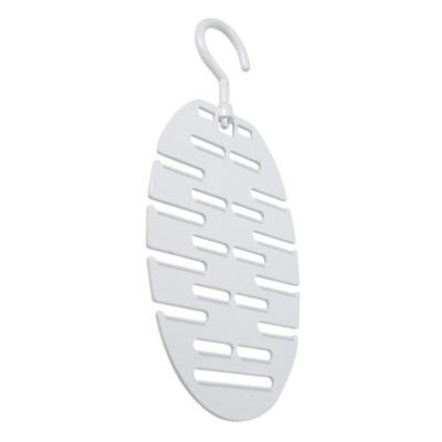 Colgador de cinturones plástico blanco