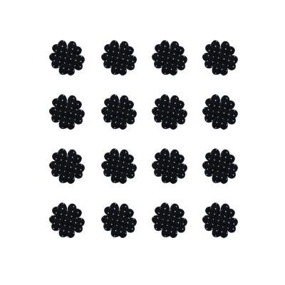 Flor de aplicación con puntos 50 unidades negro