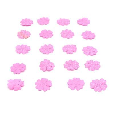 Flor de aplicación con puntos 50 unidades rosado