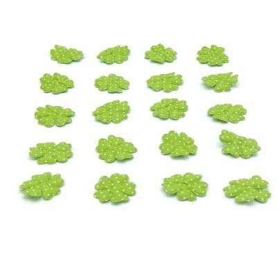 Flor de aplicación con puntos 50 unidades verde