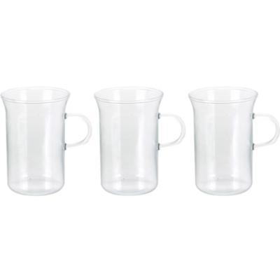 Set 3 mug 250 ml transparente