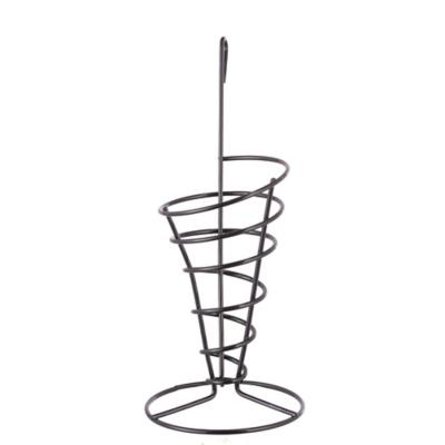 Stand papas fritas 23x10 cm cromo negro
