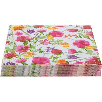 Servilleta de papel 16,5x16,5 cm florecita 20 unidades