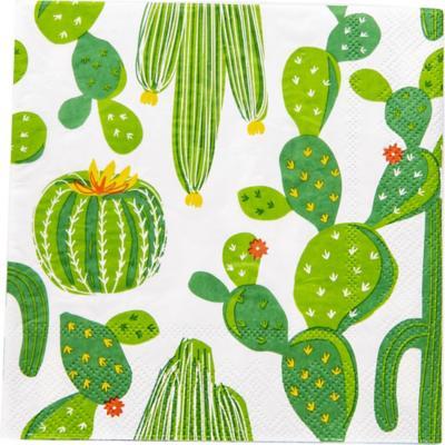 Servilleta de papel 16,5x16,5 cm cactus 20 unidades