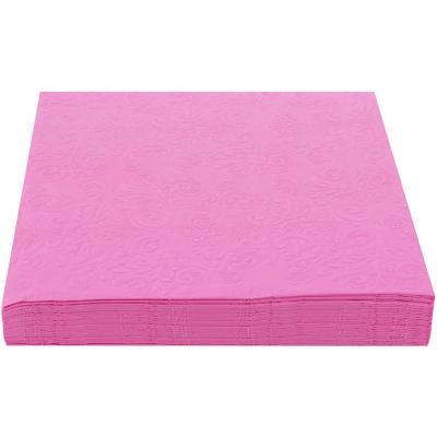Servilleta de papel 16,5x16,5 cm rosa 20 unidades