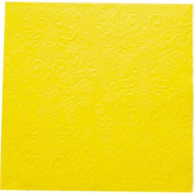 Servilleta de papel 16,5x16,5 cm amarillo 20 unidades