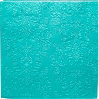 Servilleta de papel 16,5x16,5 cm turquesa 20 unidades