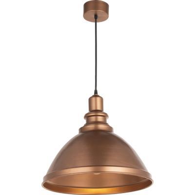 Lámpara Colgante Campana Forma Cobre 1 luz