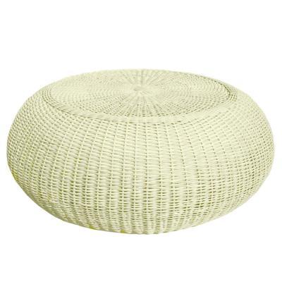 Pouf Mesa blanco fibra natural