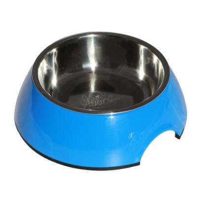 Plato melamina sólido redondo talla l azul