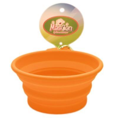 Plato plegable de silicona simple talla l naranjo