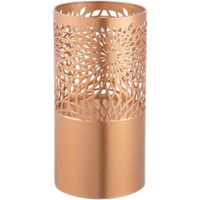 Porta velas metal dorado