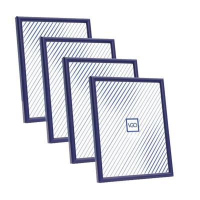 Pack 4 marcos plásticos 20x25 cm azul