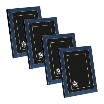 Pack 4 marcos con detalles 20x25 cm azul