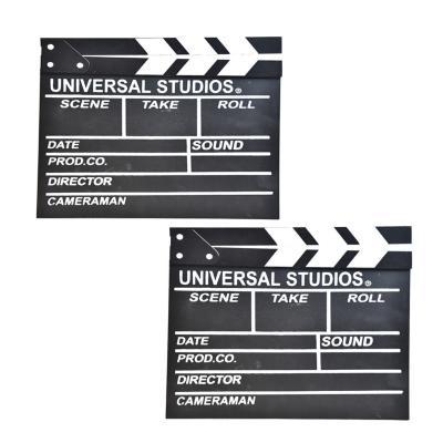Pack 2 Claquetas de cine 26,5x30 cm madera