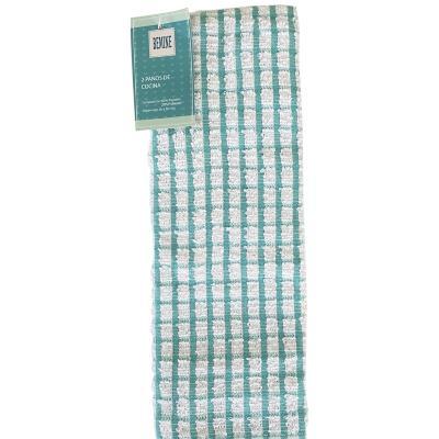 Paño de cocina 30x50 cm 2 unidades algodón/poliéster
