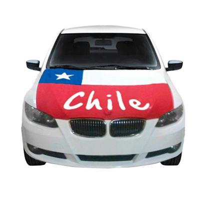 Cubre capot auto diseño bandera chilena