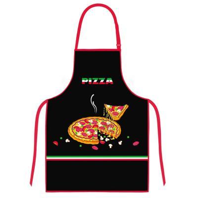 Delantal cocina diseño pizza negro