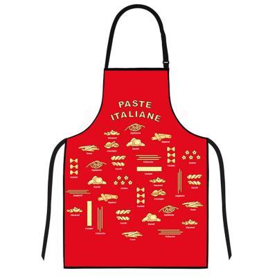 Delantal cocina diseño pasta rojo