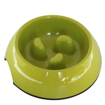 Plato melamina anti-ahogo talla l verde