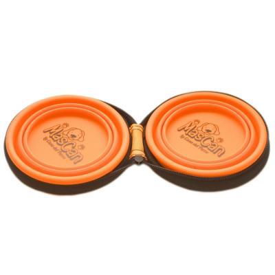Plato plegable de silicona doble talla s naranjo