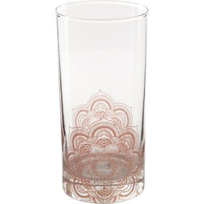 Vaso alto vidrio 360 ml rosado