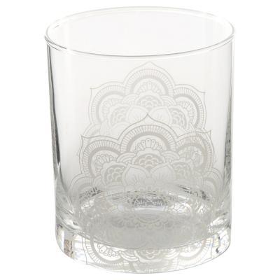 Vaso bajo vidrio 330 ml blanco