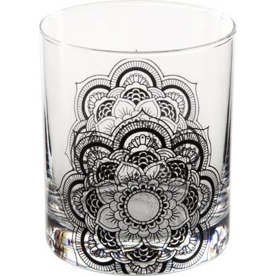 Vaso bajo vidrio 330 ml negro