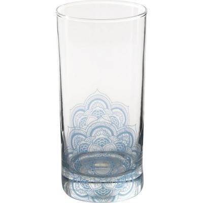 Vaso alto vidrio 360 ml azul