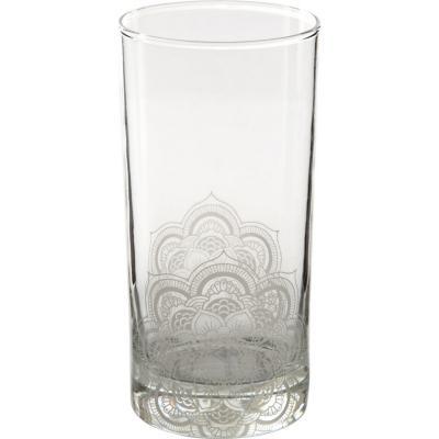 Vaso alto vidrio 360 ml blanco