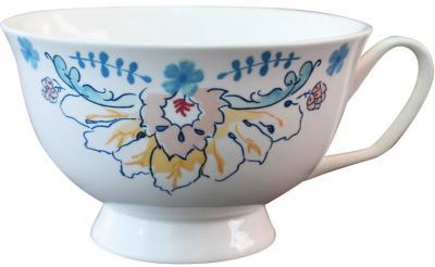 Taza de té blanca
