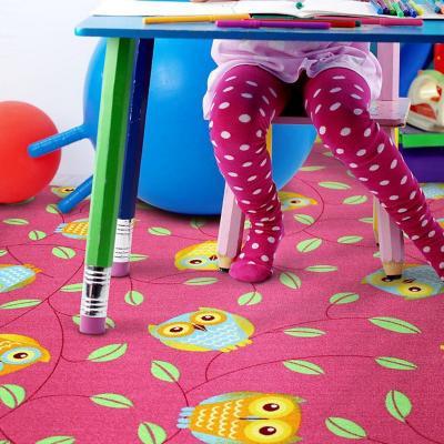 Alfombra infantil happy owl 95x133 fucsia