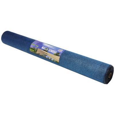 Malla raschel 10x2,10 mts azul/ negro