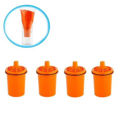 Pack 4 repuestos jarro purificador Sense naranjo