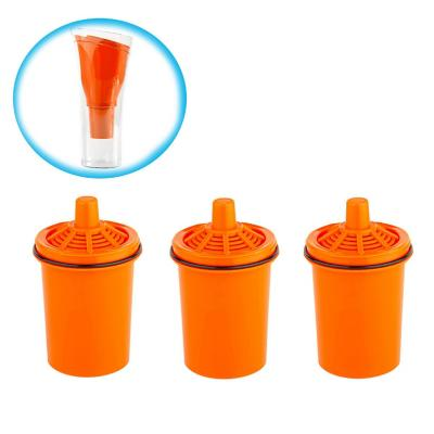 Pack 3 filtros  jarro purificador de agua naranja