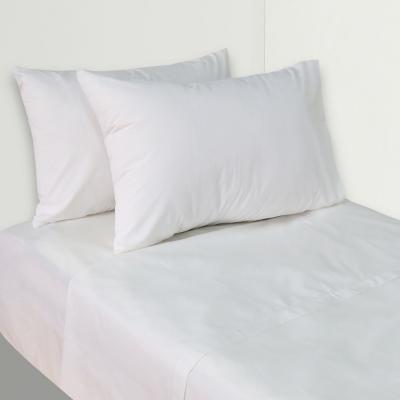 Juego de sábanas illusions 144 hilos blanca 1,5 plazas
