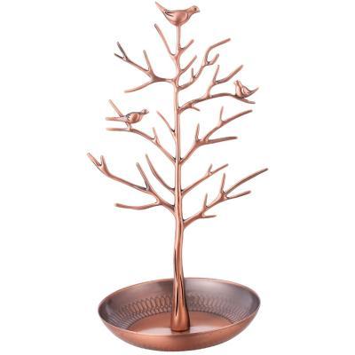 Árbol de metal color bronce 31,7 cm