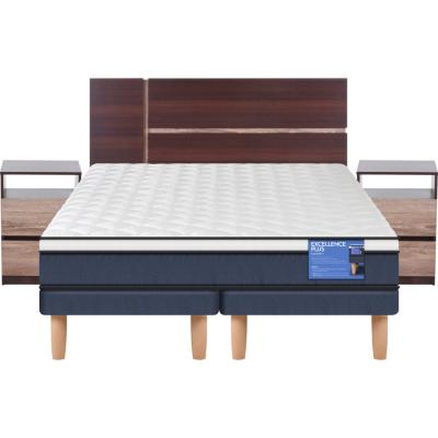 Cama Europea Excellence Plus 2 plazas BD + muebles