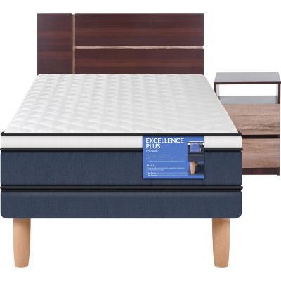 Cama Europea Excellence Plus 1.5 plazas + muebles
