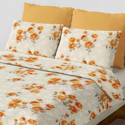 Set sábana alexandra naranja queen