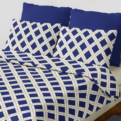 Set sábana fantino azul/marfil king