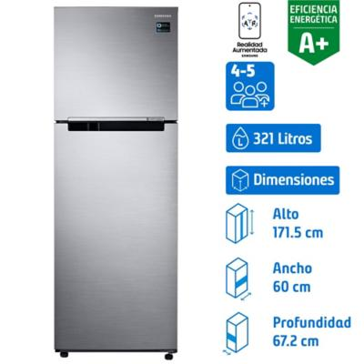Refrigerador 321 litros no frost top mount freezer