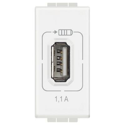 Cargador USB 1,1A blanco