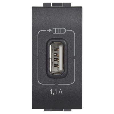 Cargador USB 1,1A antracita