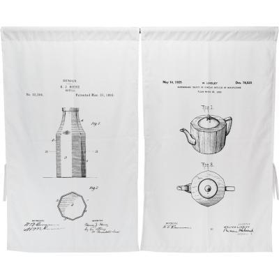 Cortina cocina cafetera 2 paños 70x115 cm