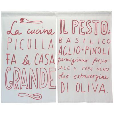 Cortina cocina Italiana tinto 2 paños 70x115 cm