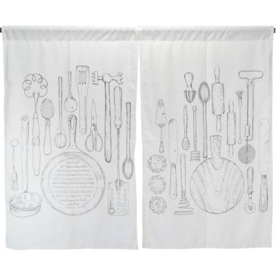 Cortina cocina tabla usleros 2 paños 70x115 cm