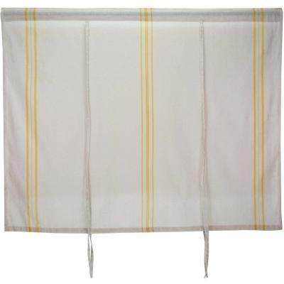 Cortina cocina líneas mostaza 140x115 cm